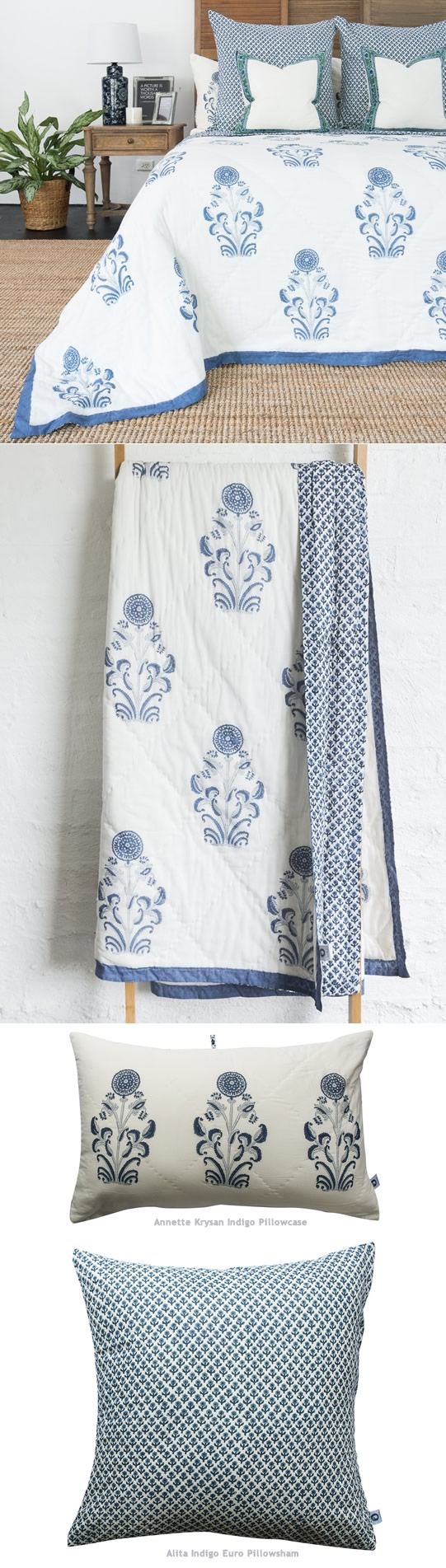Annette Kasani Hand Printed Coverlet