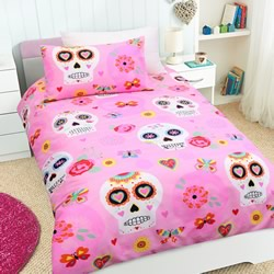 Candy Skull Quilt Cover Set
