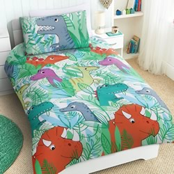 Dino Forest Quilt Cover Set