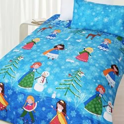 Snow Princess Quilt Cover Set