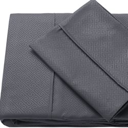 Quay Grey Embossed Sheet Set