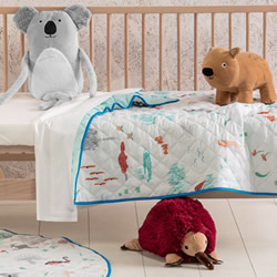 Aussie Friends Cot Coverlet