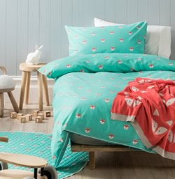Foxy Teal Quilt Cover Set