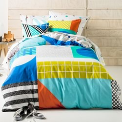 Graceland Blue Quilt Cover Set