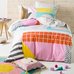 Graceland Pink Quilt Cover Set