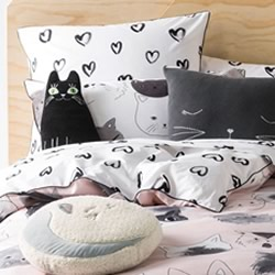 Kittycat White European Pillowcase