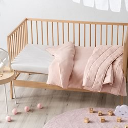 Maddison Pink Cot Quilt Cover & Coverlet