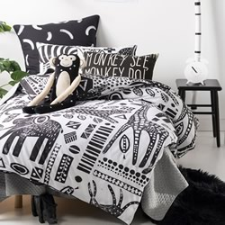 Mamba Black Quilt Cover Set