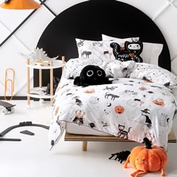 Scaredy Cat Quilt Cover Set