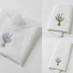 Lavender Bouquet Towels