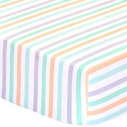 Cloudy Days Stripes Cot Fitted Sheets
