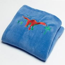 Dino Land Fleece Throw
