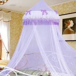 Bednet With Purple Frills