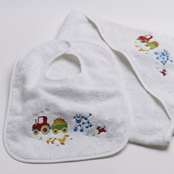Farmyard Boys Bib