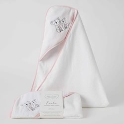 Kayla Koala Pink Hooded Bath Towels 4 PACK