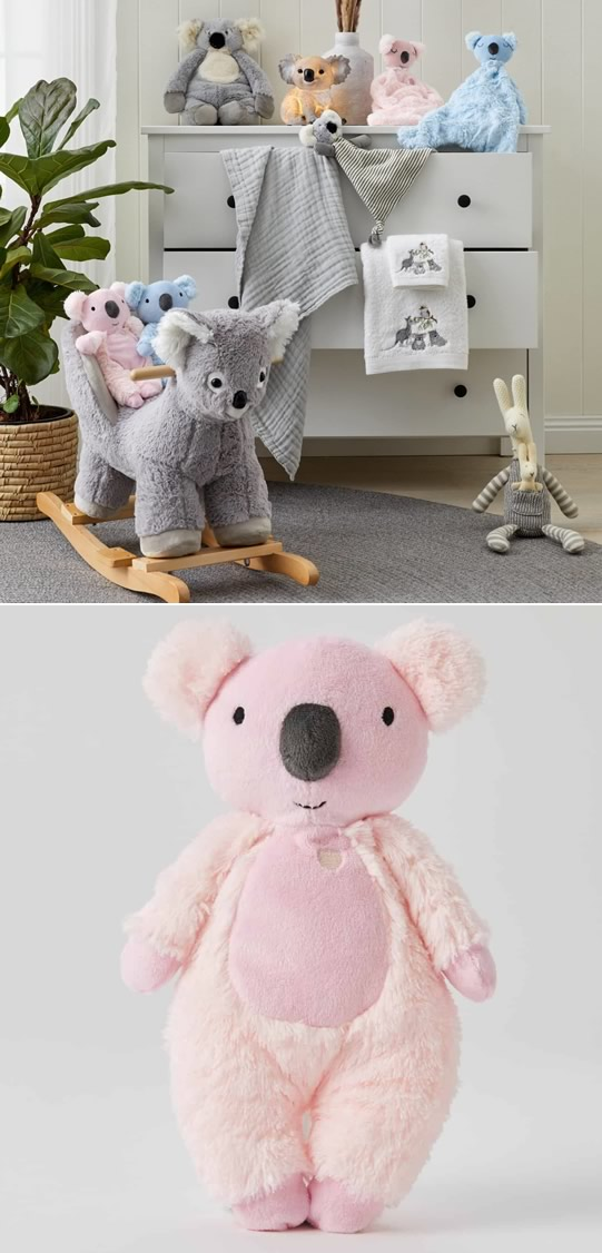 Kayla Koala Plush Toy Rattle