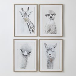 Framed Wall Art Large Animals