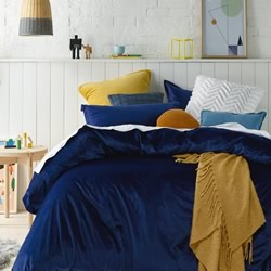 Velvet Navy Quilt Cover Set
