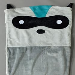 Racoon Fleece Throw