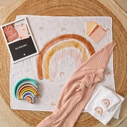 Rainbow Muslin & Milestone Cards 2 PACK