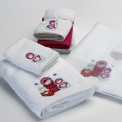 Red Babushka Towels
