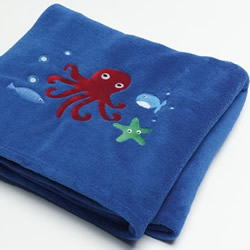 Sea Creatures Fleece Throw