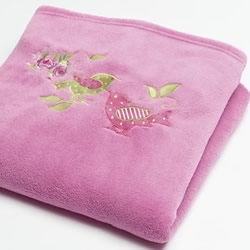 Shabby Chic Fleece Throw