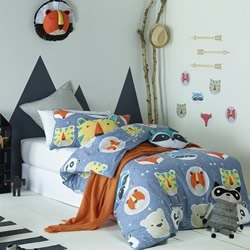 Funny Faces Quilt Cover Set