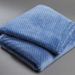 Popcorn Fleece Denim Throw