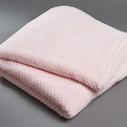 Popcorn Fleece Pink Throw
