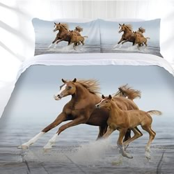 Frolicking Horse Quilt Cover Set