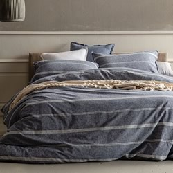 Balmoral Navy Quilt Cover Set