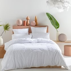 Barlow White Quilt Cover Set