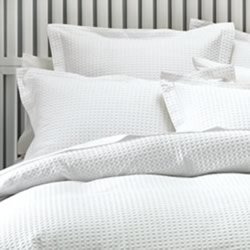 Deluxe Waffle White European Pillowcase
