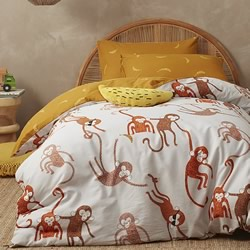 Monkey Quilt Cover Set