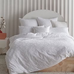 Perry White Quilt Cover Set