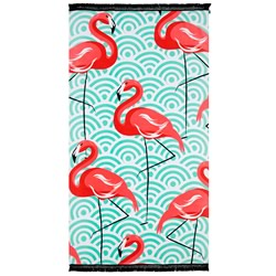 Circe Flamingo Beach Towel