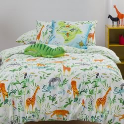 Jungle Story Quilt Cover Set