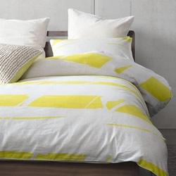 Broken Stripe Yellow Quilt Cover Set