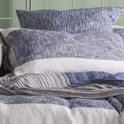 Carina Navy European Pillowcase