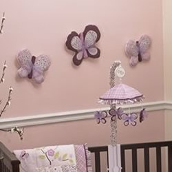 Sugar Plum Butterfly Wall Hanging