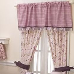 Sugar Plum Curtain Pair With Tiebacks
