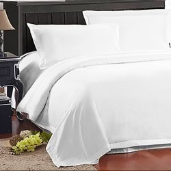 American Cotton Plain 1000TC White Quilt Cover Set