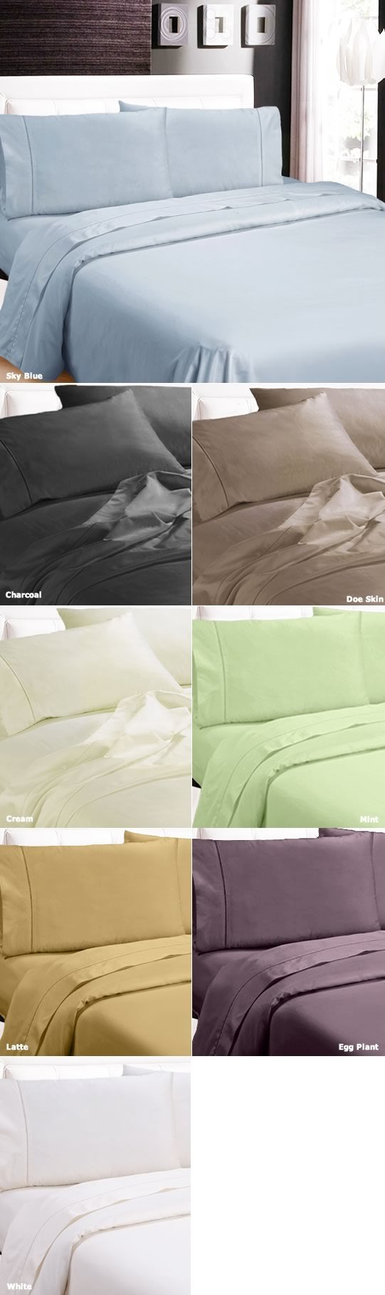 1100TC Egyptian Cotton Sheets