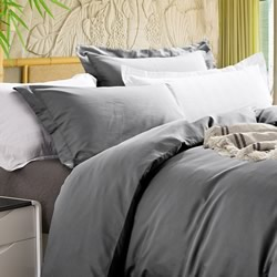 Bamboo 400TC Charcoal Quilt Cover Set