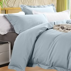 Bamboo 400TC Pearl Blue Quilt Cover Set