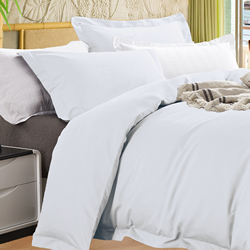 Bamboo 400TC White Quilt Cover Set