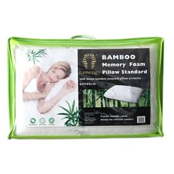 Bamboo Memory Foam Standard Pillows