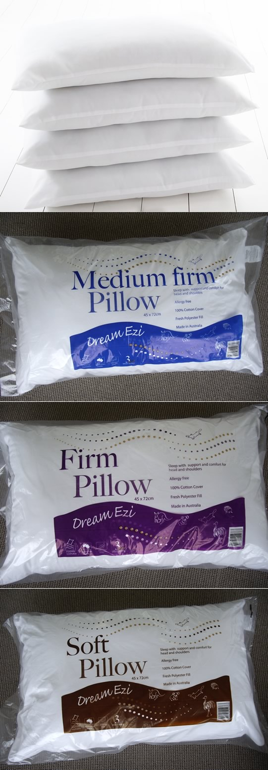 Australian Made Dream Ezi Pillows