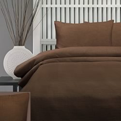 Honeycomb Chocolate 225TC Quilt Cover Set